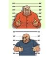 police mug shots thief and bandit vector image vector image