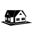 private cottage black icon vector image