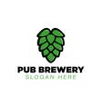 pub brewery logo ideas inspiration logo design vector image vector image
