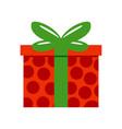 red polkadot gift box vector image vector image