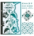 Restaurant menu design template - vector image vector image