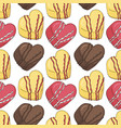seamless pattern of different desserts candies vector image