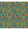 seamless pattern with ethnic elements vector image vector image