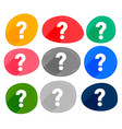 set many colors question marks symbols vector image