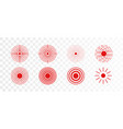 set of red rings icon for medical design on vector image