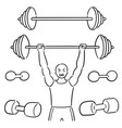 set weightlifter vector image