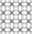 Shades of gray striped crossing double T shapes vector image vector image