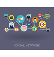 Social media network Growth background with lines