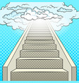 stairway to heaven pop art vector image