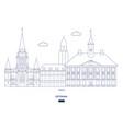tartu city skyline vector image vector image