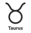Taurus bull zodiac sign icon vector image vector image