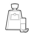 tequila bottle design vector image