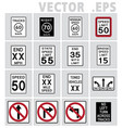 traffic sign road vector image vector image
