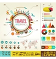 Travel and tourism infographics with data icons vector | Price: 3 Credits (USD $3)