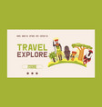 travel to africa banner web design vector image vector image