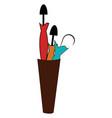 umbrellas holder vase hand drawn design on white vector image