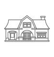 villa house iconoutlineline vector image vector image