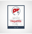 world hepatitis day icon vector image vector image