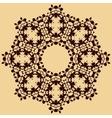 Handmade mandala of water stains ink blobs vector image