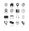 set of contacts us icons vector image