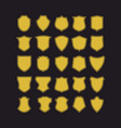 big set of badge shapes vector image