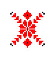 ancient belarusian pattern vector image