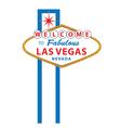 Las Vegas sign vector image