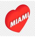 love miami isometric icon vector image