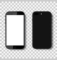 3d phone mock up isolated on transparent vector image