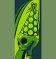alien head grey with hat vector image vector image