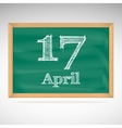 April 10 inscription in chalk on a blackboard vector image