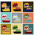 assembly of flat icons cruise ship infographic vector image vector image