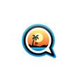 beach summer holidays chat sign symbol vector image vector image