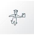 best student icon line symbol premium quality vector image vector image