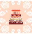 Birthday cake with eighteen candles Eighteen vector image vector image