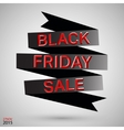 Black friday ribbon vector image vector image