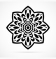 black geometry mandala over white vector image
