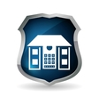 blue home security control code button vector image