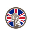 british house removal union jack flag icon vector image vector image