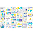 bundle infographic elements template vector image