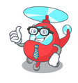 businessman helicopter character cartoon style vector image