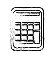 calculator math school accounting buttons sketch vector image vector image