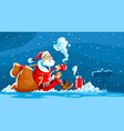 christmas holiday santa claus vector image