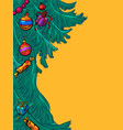 christmas tree new year background vector image vector image