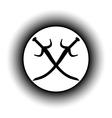 Crossed swords button vector image vector image