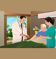 doctor talking to his patient vector image