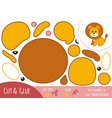 education paper game for children lion vector image vector image