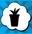 flowerpot sign black icon in vector image