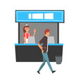 food court in shopping mall or business center vector image