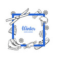 frame with place for text hand drawn winter vector image vector image